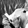 Man reads book — Foto de Stock