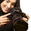 Female photographer — Stock Photo #6007608