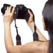 Female photographer — Stock Photo #6007621