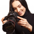 Female photographer — Stock Photo #6007627