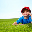 Smiling boy in grass — Stock Photo #6007676