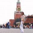 Girl in Moscow — Stock Photo