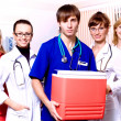 Doctors in hospital work — Stock Photo