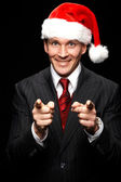 Christmas businessman — Stock Photo