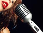 Retro Singer — Stock Photo