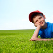 Smiling boy in grass — Stock Photo #6039670