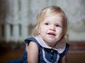 Little girl at home — Stock fotografie