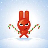 Christmas Rabbit — Stock Vector