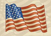 Vintage American Flag — Stock Vector