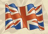 Vintage British Flag — Stock Vector