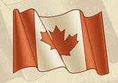 Vintage Canadian Flag — Stock Vector