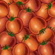 Seamless tomato background - Stock Vector