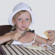 Stock Photo: Child Breakfast.