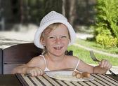 Child Breakfast. — Stock Photo