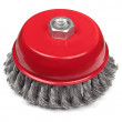 Red cup brush — Stock Photo