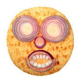 红洋葱的可怕蛋糕脸 — 图库照片