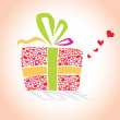 Valentine's Day, Love's hearts Gift — Stock Vector