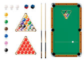 Snooker, Pool, sport icons — Stock Vector