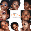 Collage of African woman — Stock Photo