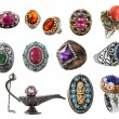 Collection of rings. - Stock Photo