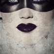 Grunge gothic masked beauty — Stock Photo #5395983
