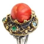 Gold und Silber türkische Ottoman ring mit Koralle — Stockfoto #5396005