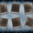 Set of 6 instant photo frames — Stock Photo #5396019