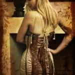 Grunge woman in corset — Stock Photo #5396029