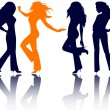 Women silhouettes. — Stock Photo