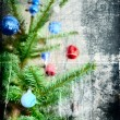 Grunge Christmas tree — Stock Photo