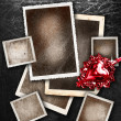 Set of grunge picture borders — Stock Photo
