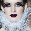 Goth beauty - Stock Photo