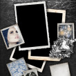 Silver background with frames. — Stock Photo