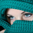 Make-up on eyes in traditional Middle East fashion - Stock Photo