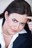 愤怒的女商人. — 图库照片
