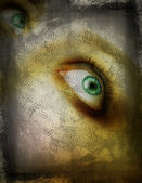 Grunge eye. — Stock Photo