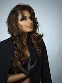 西班牙裔美国人的黑发美女 — 图库照片