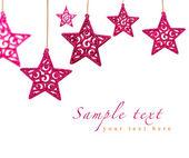 Pink stars on white — Stock Photo