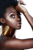 African woman with necklace . — Stock Photo
