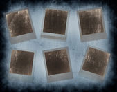 Set of 6 instant photo frames — Stock Photo