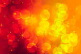 Red and yellow bokeh effect — Stock Photo