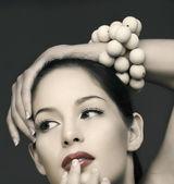 Vinatge beautiful woman — Stock Photo