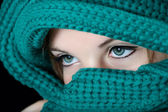 Make-up on eyes in traditional Middle East fashion — Stock Photo
