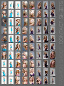 Fashion shoot contact sheet . — Stock Photo