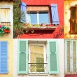 Traditional French windows — Stock Photo