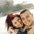 Stock Photo: Turkish couple at sea