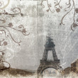 Stock Photo: Eiffel Tower on grunge background