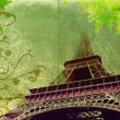 Grunge Eiffel Tower in sepia — Stock Photo #5411399