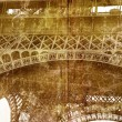 Grunge Eiffel Tower detail — Stock Photo