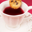 Cookie and tea - Stock Photo
